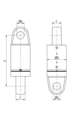 Heavy Duty Swivel Eye Eye 200-1750 tons