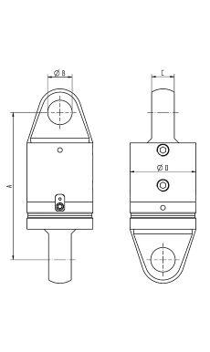 Heavy Duty Swivel Eye Eye 9,5 - 150 tons